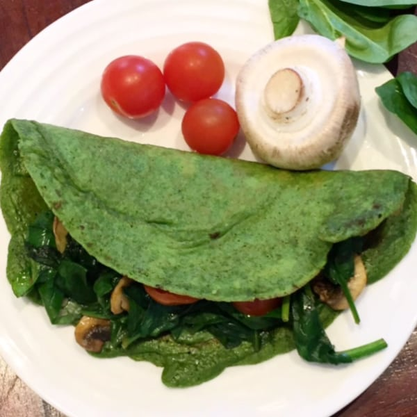 Spinach Pancakes with Gluten Free Flour