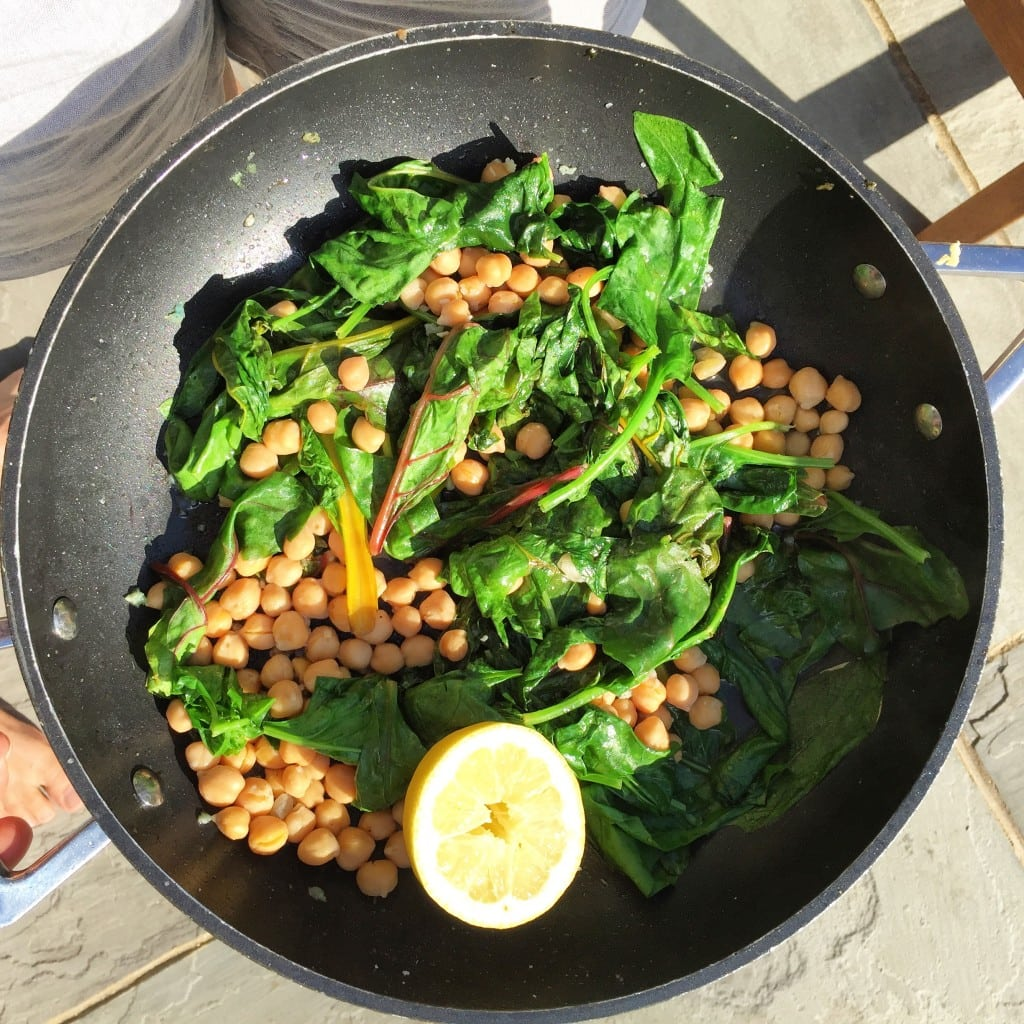 One-Pot Spinach and Chickpeas