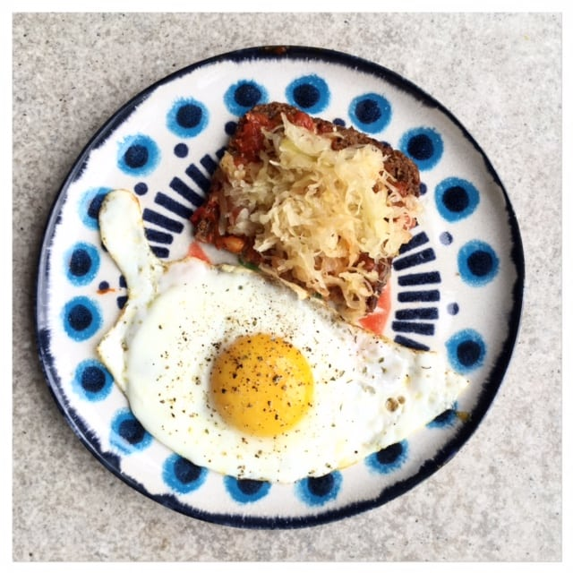 Sauerkraut and Eggs