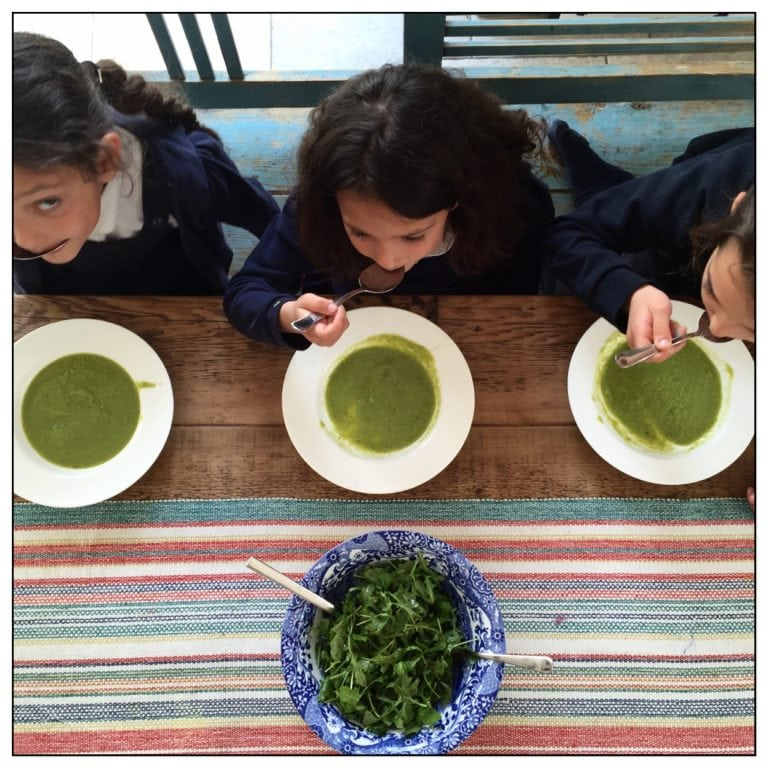 Pea and Broccoli Soup with Lentils