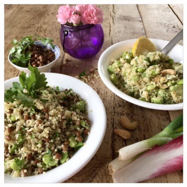 quinoa edamame bowls