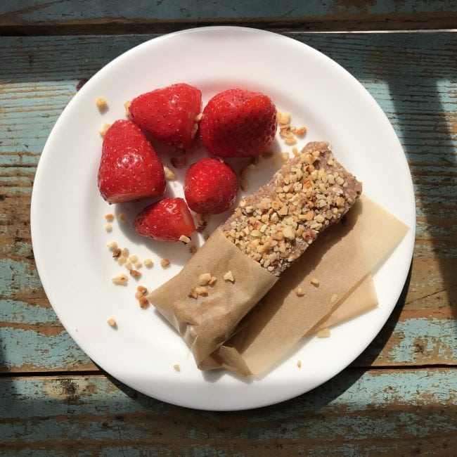 no nut no bake energy snack bar