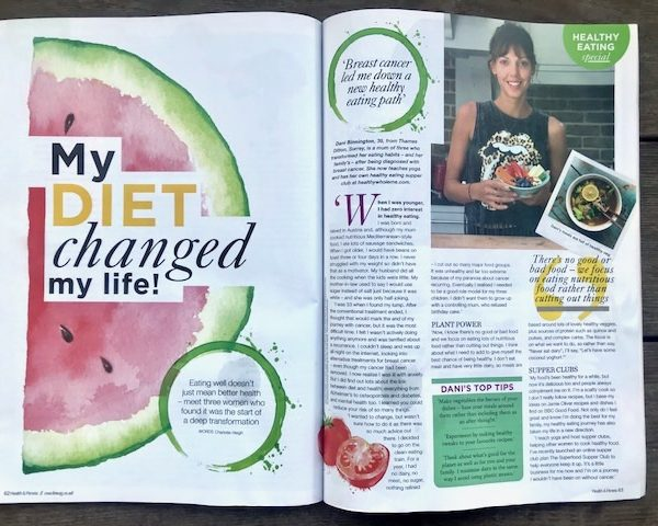 Health & Fitness magazine article my diet changed my life