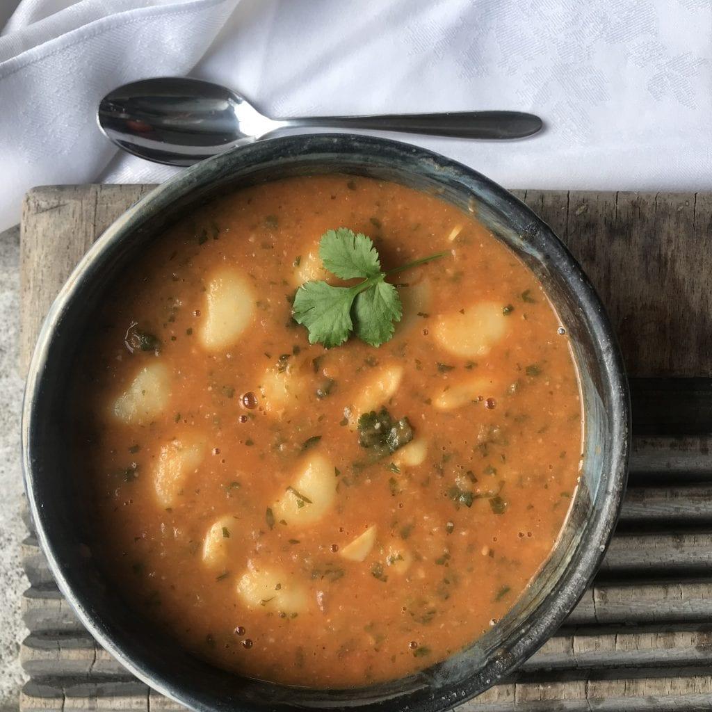 warming butter bean soup