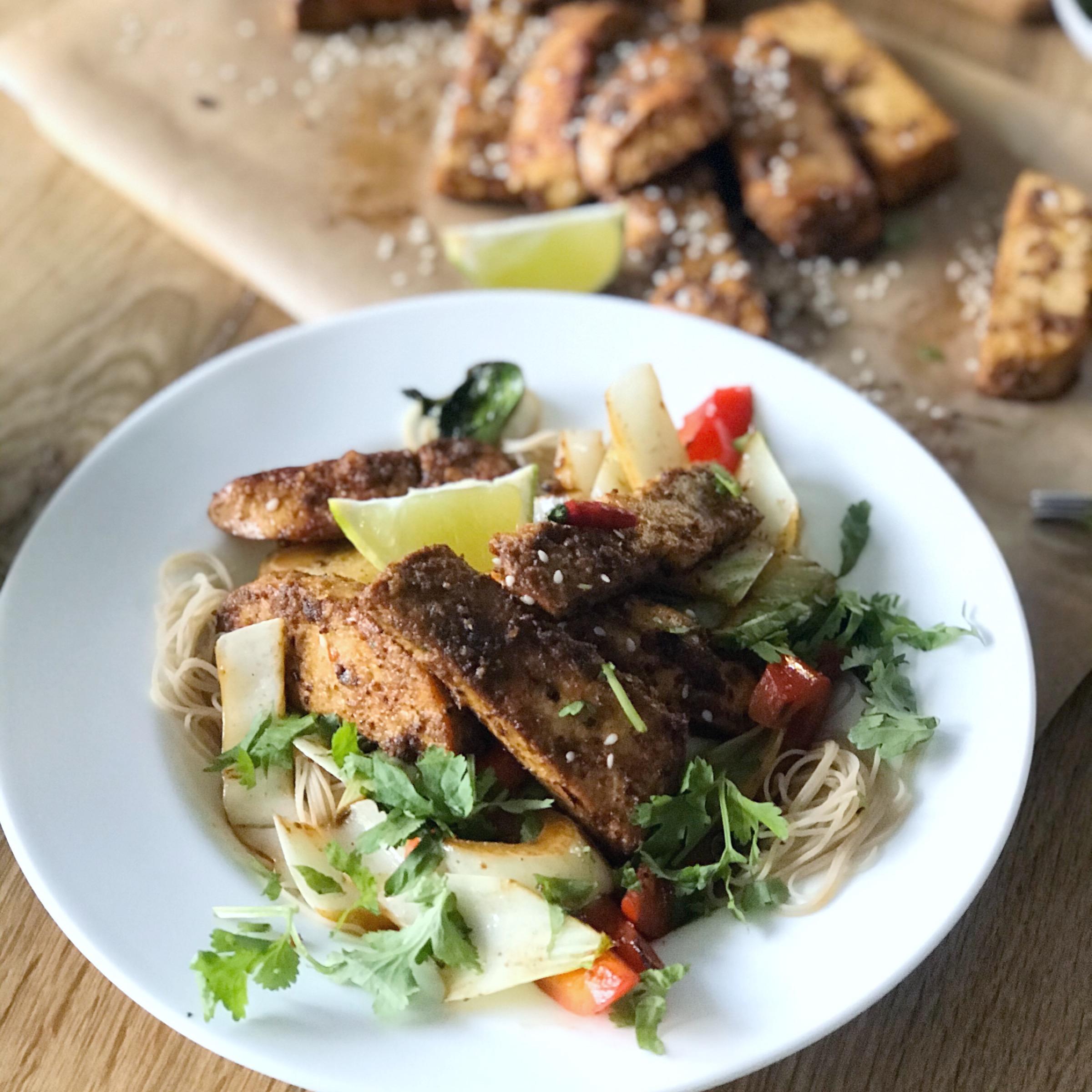 easy crispy tofu stir fry recipe