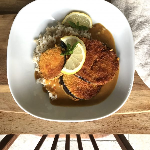 Vegan Aubergine Katsu Curry